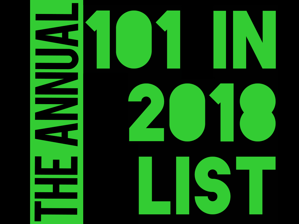 101 in 2018 list